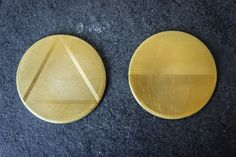 Brass Coasters with Leather Backing