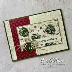 Thinking Stamping: Gorgeous Leaves for AYSI 260