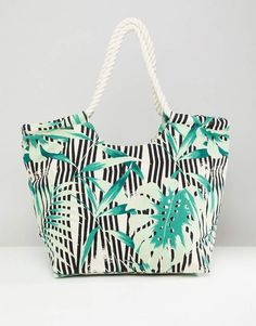 a17b16a90c South Beach Palm Print Beach Bag South Beach