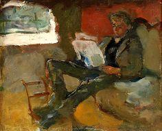 Munch, Edvard (1863-1944) Andreas Reading