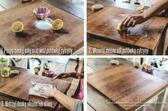 domowy sposób na wyczyszczenie drewnianej deski