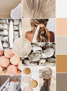 July Mood Board - Kara Layne & Co. - - Enjoy this month's mood board and the color inspiration that comes along with it! The July mood board is a beautiful neutral palette with pops of muted. Colour Pallete, Colour Schemes, Color Palettes, Design Typography, Lettering, Mode Rose, Mood And Tone, Aesthetic Colors, Aesthetic Dark