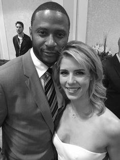 lovely #ArrowCast at CW Upfronts 2015: David Ramsay, Emily Bett Rickards
