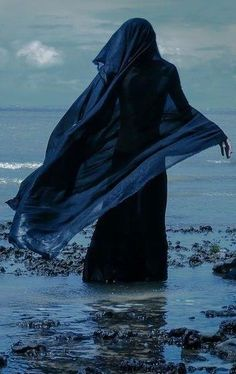 use skeleton for witch and face away from path. -Yemaya The Ocean Goddess