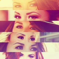 Demi Lovato's eyes are so flippin perfect! how does this happen?