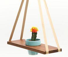 A-Frame Plant Hanger - Design Milk Hanging Flower Pots, Hanging Planters, Diy Hanging, Plant Shelves, Plant Holders, Plant Hanger, Garden Design, Diy Projects, Miniature