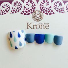 ネイル 画像 Nail Salon Krone【ネイルサロン クローネ】 幕張 1049705 青 水滴 フット