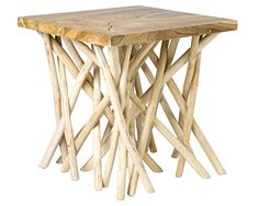 online shopping for East At Main Lanoka Square Accent Table, White, from top store. See new offer for East At Main Lanoka Square Accent Table, White, Wood Slab, Teak Wood, Thing 1, Wood End Tables, Black Furniture, Occasional Chairs, Furniture Deals, Natural Wood, Natural Materials