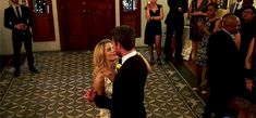 Oliver and Felicity having their first dance on their wedding day.