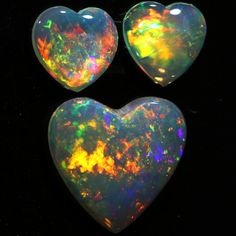 0.97 CTS HEART SHAPE CRYSTAL OPAL PARCEL FROM COOBER PEDY- [SEDA894]