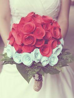 Paper bouquet #roses