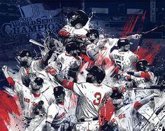 RED SOX 2013 WORLD SERIES CHAMPIONS ART