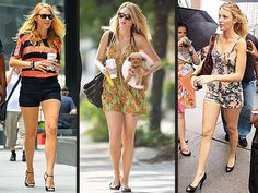 Blake Lively Really Loves Topshop! – Style News - StyleWatch - People.com  Always love a good romper!