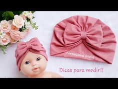 Diy Crafts Paper Flowers, Flower Crafts, Baby Girl Hats, Girl With Hat, Baby Hats Knitting, Knitted Hats, Craft Stick Crafts, Diy And Crafts, Indian Henna Designs