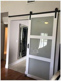 Frosted Glass Barn Door, Glass Barn Doors, Sliding Glass Door, Frosted Glass Interior Doors, Glass Office Doors, Sliding Bathroom Doors, Sliding Pantry Doors, Glass Closet Doors, Modern Sliding Doors