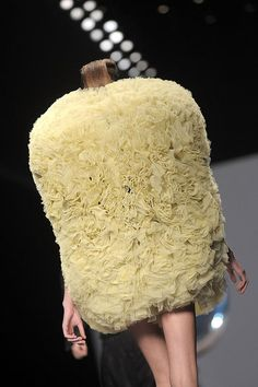 The Loofah Sponge Dress may not exfoliate, but it will absorb that April shower!  (Viktor and Rolf Spring 2010)