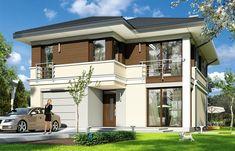 Projekt domu Tytan - 134.26 m2 - koszt budowy 135 tys. zł 2 Storey House Design, Construction, Home Fashion, Mirror, House Styles, Gallery, Home Decor, House, Building