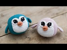 """""""Penguins can pick up your spirits any day,"""" as Anna says. In a collaboration with www.dk, she has made quirky, round crochet penguins from soft . Diy And Crafts Sewing, Crafts For Girls, Crafts To Sell, Diy Crochet Patterns, Crochet Diy, Hand Crochet, Crochet Penguin, Crochet Patron, Craft Wedding"""