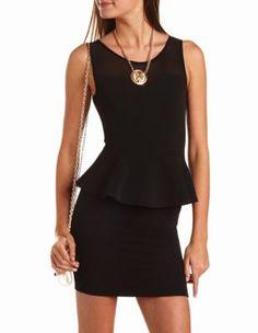 zip-back ottoman peplum dress