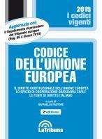 Codice dell'Unione europea: il diritto costituzionale dell'Unione europea, lo spazio di cooperazione giudiziaria civile, le fonti del diritto italiano / a cura di Raffaella Pastore