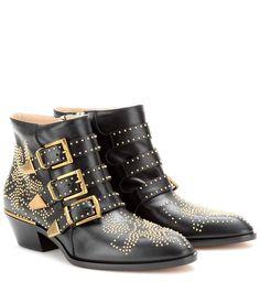 Schwarze Ankle Boots Susanna aus Leder
