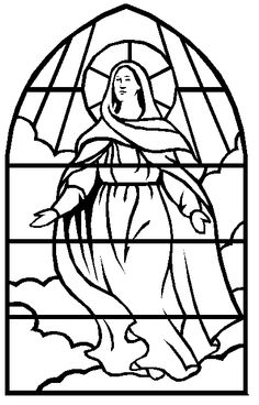 Christ The King Stained Glass Coloring Page