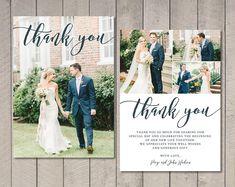 Wedding Thank You Card (Printable) by Vintage Sweet – Wedding Pictures Wedding Thank You Cards Wording, Wedding Cards, Wedding Invitations, Wedding Bells, Invites, Wedding Thanks, Our Wedding, Dream Wedding, Wedding Ideas