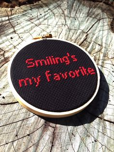Smiling's My Favorite  Buddy the ELF  4 inch by teenytinytantrums