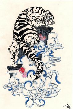 Japanese Tiger Drawings Style Tiger Drawing