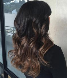 Black To Brown Ombre Balayage
