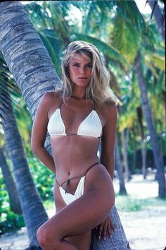 1980 Sports Illustrated Swimsuit Photographed by John G. Zimmerman. Christie Brinkley (Similar to the cover but not part of the original issue)