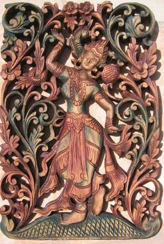 carved woodwork and sculptures