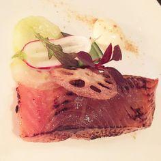 Cured Sea Trout  With charred cucumber and miso Creme fraiche  #plateau #canarywharf #canadaplace #london #thisislondon #eeeeeats #eastlondon #london_only #londonfood #londonfoodie #london #food #foodie #foodcoma #foodgasm #foodporn #instafood #instagood #igers #igerlondon #happyLDNfood #topcitybites #londonrestaurants #toplondonrestaurants #foodinlondon #londoneats #fish #trout #cremefraiche by happy_london_food