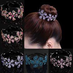 0fe6dc19c Women's Rhinestone Flower Hair Clip Hairpin Babby Pin Bun Headpiece  Accessories #fashion #clothing #