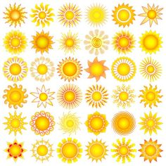 I want a tiny little sun tattoo somewhere Sun Tattoos, Cool Tattoos, Tatoos, Mellow Yellow, Big Yellow, Aquarell Tattoo, Stars And Moon, Sun Moon, Sun Designs