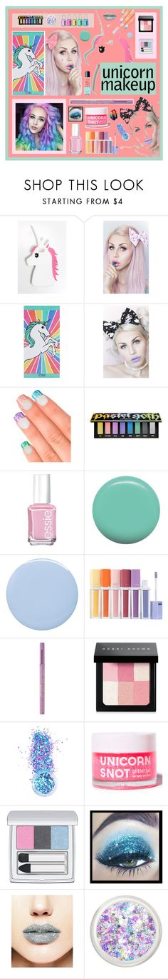 """Unicorn Beauty"" by beanpod ❤ liked on Polyvore featuring beauty, Rare London, Lulu in the Sky, PBteen, Elegant Touch, Kat Von D, Essie, Jin Soon, Deborah Lippmann and Too Faced Cosmetics"
