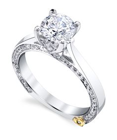 The Crave engagement ring contains 77 diamonds, totaling 0.405 ctw.