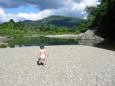 Swimming in Waitsfield in the Mad River Valley
