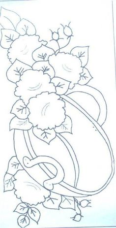 Ideas embroidery floral coloring books for 2019 Hand Embroidery Patterns, Embroidery Applique, Floral Embroidery, Machine Embroidery Designs, One Stroke Painting, Tole Painting, Fabric Painting, Coloring Book Pages, Textile Art