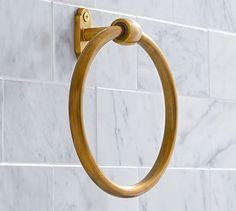 Covington Towel Ring, Brass Finish