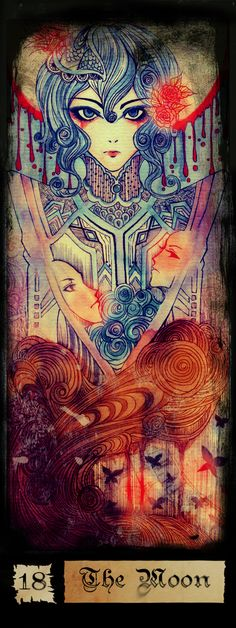 ☆ XVII - The Moon Tarot :¦: By Tearsofdevil ☆