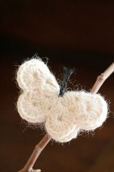 crochet a cute little butterfly.