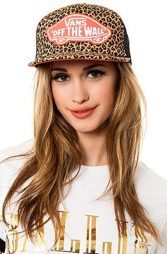 9c34e7a0cd5 The Beach Girl Trucker Hat in Leopard by Vans use rep code  OLIVE for 20