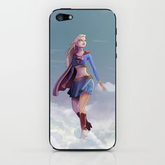 Supergirl iPhone & iPod Skin by Edouard Relou - $15.00