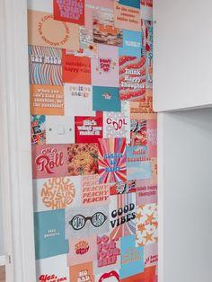 Diy Wall Collage Vsco Pastel Retro Aesthetic In 2020