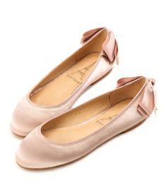 Grace giftGrace gift 官方購物網站 - 華麗絲光布後蝴蝶結娃娃鞋