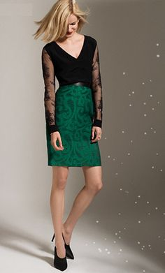 Party Style: Tibi Organza Skirt