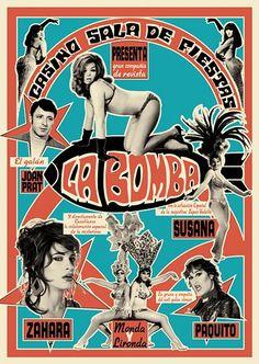 """171 Cartel de """"La bomba"""" / Juan Gatti (La mala educación, 2004) / #Almodovar"""