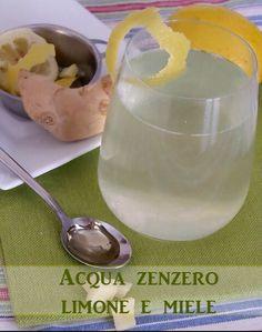 Acqua,zenzero,limone e miele Bevanda che aiuta a dimagrire