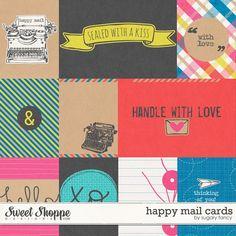 Happy Mail Cards by Sugary Fancy #happymail #digitalscrapbooking #sugaryfancy